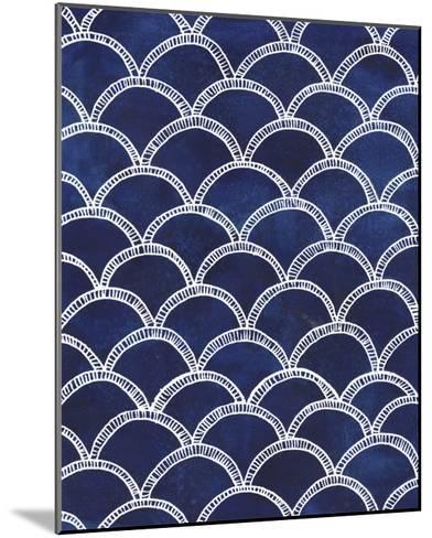 Indigo Pattern II-Grace Popp-Mounted Art Print