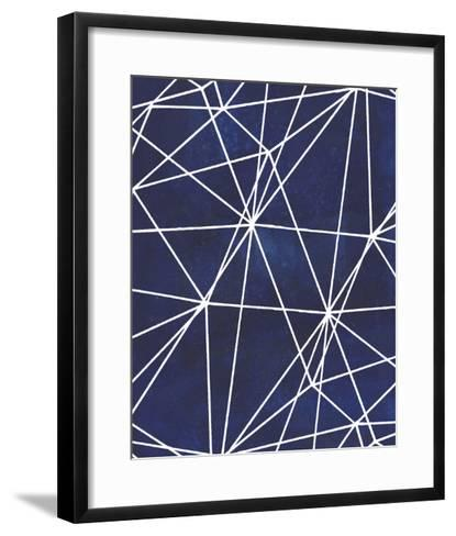 Indigo Pattern V-Grace Popp-Framed Art Print