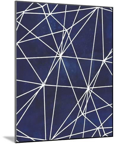 Indigo Pattern V-Grace Popp-Mounted Art Print