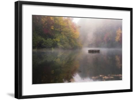 Mist on the Lake-Danny Head-Framed Art Print