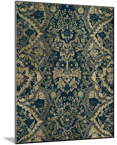 Baroque Tapestry in Aged Indigo II-Vision Studio-Mounted Giclee Print