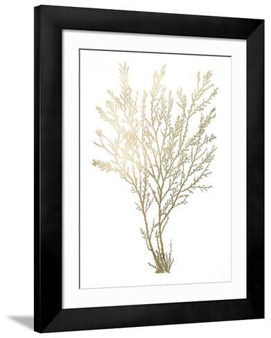 Gold Foil Algae I-Jennifer Goldberger-Framed Art Print