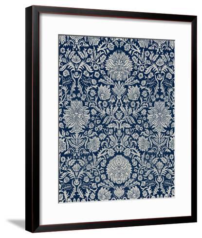 Baroque Tapestry in Navy II-Vision Studio-Framed Art Print