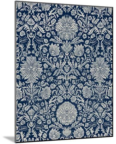 Baroque Tapestry in Navy II-Vision Studio-Mounted Giclee Print