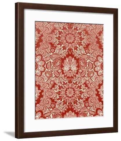 Baroque Tapestry in Red II-Vision Studio-Framed Art Print