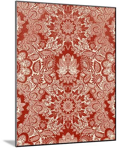 Baroque Tapestry in Red II-Vision Studio-Mounted Giclee Print