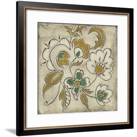 Earthenware Floral III-Chariklia Zarris-Framed Art Print
