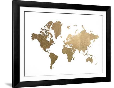 Large gold foil world map art print by jennifer goldberger art large gold foil world map jennifer goldberger framed art print gumiabroncs Choice Image
