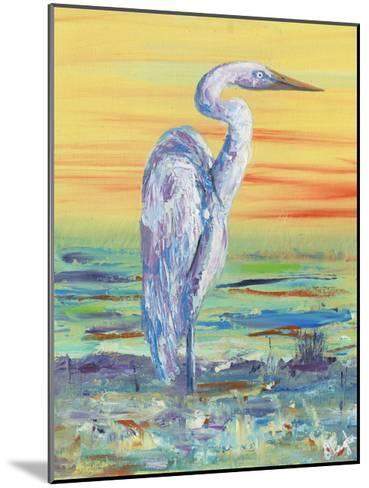Egret Sunset I-Olivia Brewington-Mounted Art Print