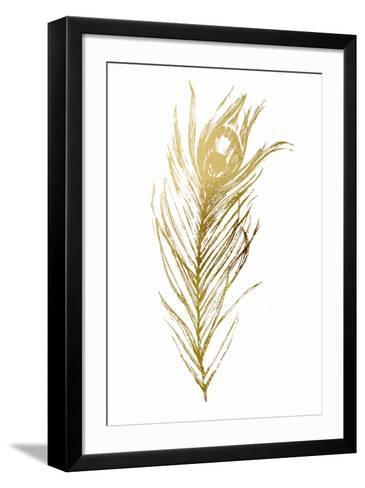 Gold Foil Feather I-Vision Studio-Framed Art Print