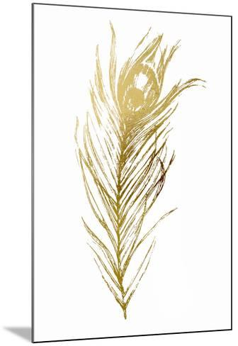 Gold Foil Feather I-Vision Studio-Mounted Art Print