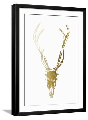 Gold Foil Rustic Mount I on White-Vision Studio-Framed Art Print