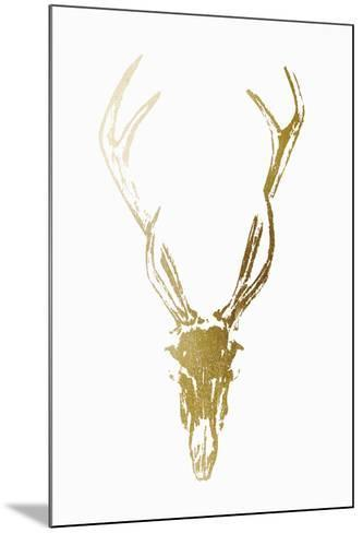 Gold Foil Rustic Mount I on White-Vision Studio-Mounted Art Print