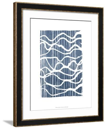 Exverse Indigo-Jennifer Goldberger-Framed Art Print
