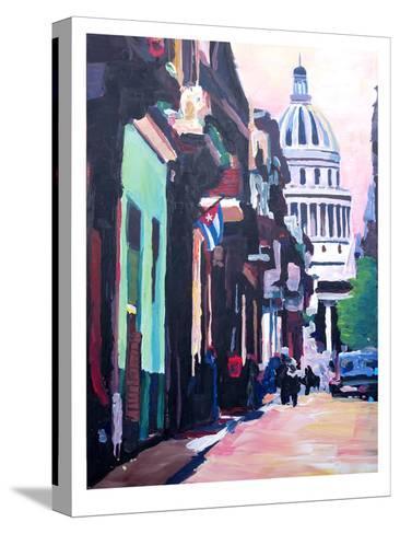 Havana Cuba Street Scene-M Bleichner-Stretched Canvas Print