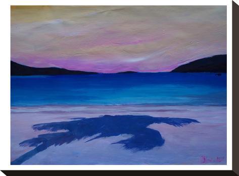 Caribbean Beach Palm In Soft Evening Light-M Bleichner-Stretched Canvas Print