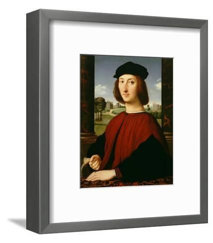Portrait of a Young Man in Red-Circle of Raphael (Raffaello Sanzio)-Framed Art Print