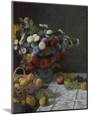 Still Life with Flowers and Fruit-Claude Monet-Mounted Art Print