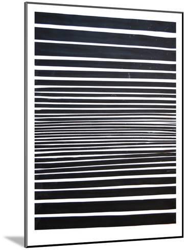 Black & White Stripes-Cara Francis-Mounted Art Print