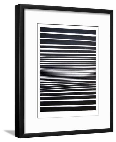 Black & White Stripes-Cara Francis-Framed Art Print