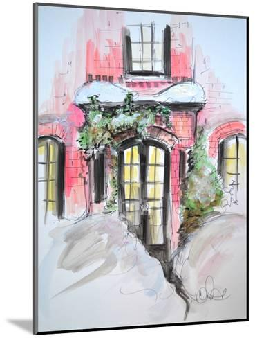 Snowy Bricks in Beacon Hill-Cara Francis-Mounted Art Print