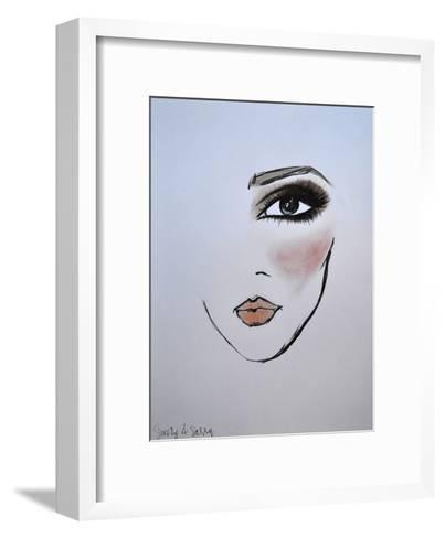 MaybellineNY_Smoky&Sassy-Cara Francis-Framed Art Print