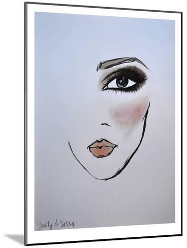 MaybellineNY_Smoky&Sassy-Cara Francis-Mounted Art Print