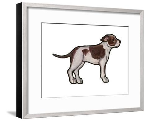 Staffordshire Bull Terrier 2-Sally Pattrick-Framed Art Print