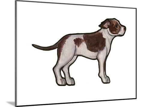 Staffordshire Bull Terrier 2-Sally Pattrick-Mounted Art Print