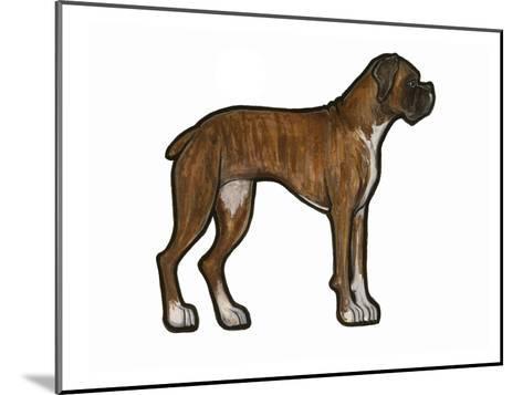 Boxer 2-Sally Pattrick-Mounted Art Print