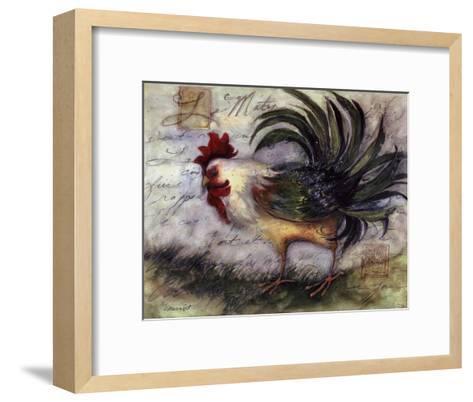 Le Rooster IV-Susan Winget-Framed Art Print