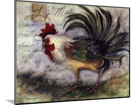 Le Rooster IV-Susan Winget-Mounted Art Print