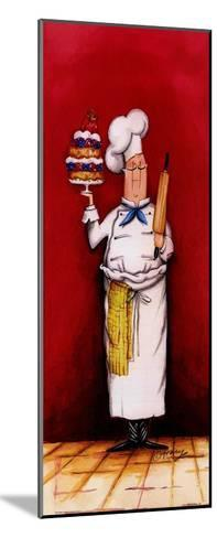 Chef With Pastry-Tracy Flickinger-Mounted Art Print