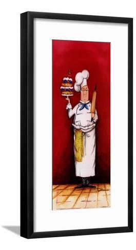 Chef With Pastry-Tracy Flickinger-Framed Art Print