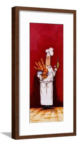Chef With Bread And Oil-Tracy Flickinger-Framed Art Print