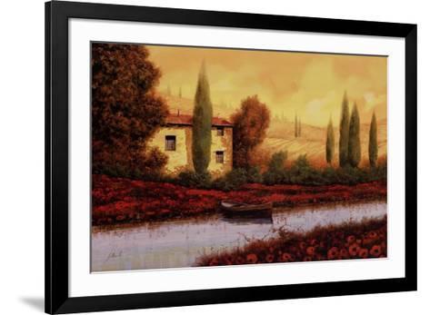 Al Tramonto Sul Fiume-Guido Borelli-Framed Art Print