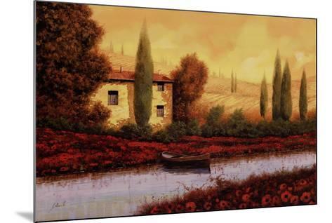 Al Tramonto Sul Fiume-Guido Borelli-Mounted Art Print