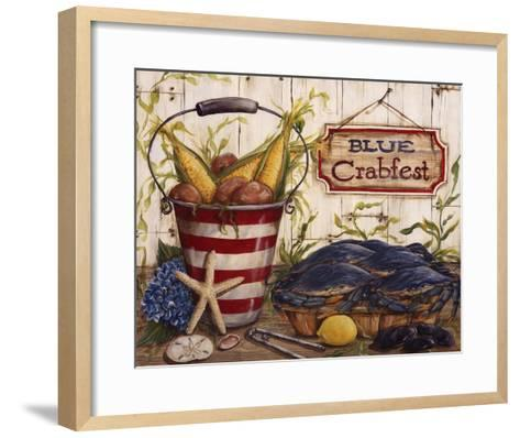 Blue Crabfest-Kate McRostie-Framed Art Print