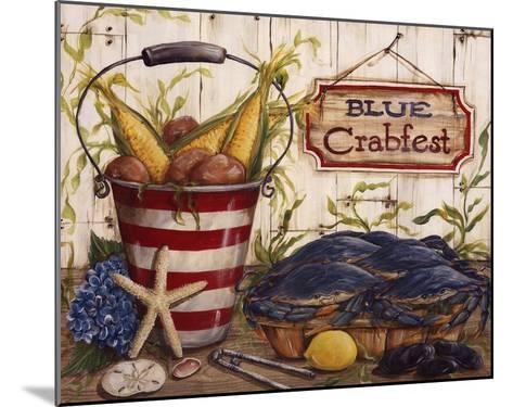 Blue Crabfest-Kate McRostie-Mounted Art Print