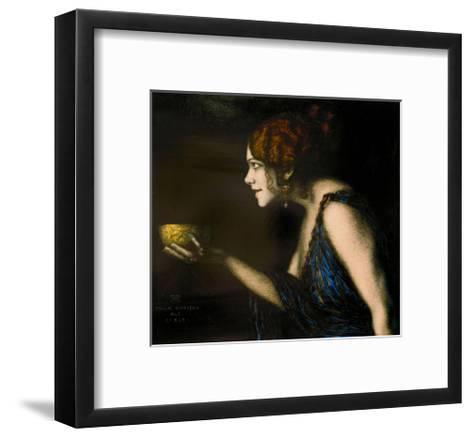 "Role in ""Circe"" by Pedro Calderon de la Barca, 1912/13-Franz von Stuck-Framed Art Print"