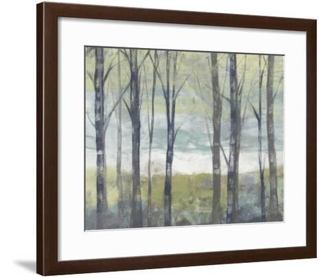 Pastel Birches II-Jennifer Goldberger-Framed Art Print