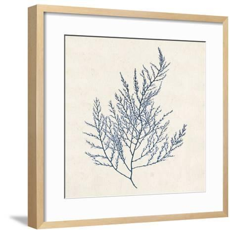 Indigo Algae I-Jennifer Goldberger-Framed Art Print