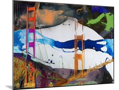 San Francisco Bridge Abstract I-Sisa Jasper-Mounted Giclee Print