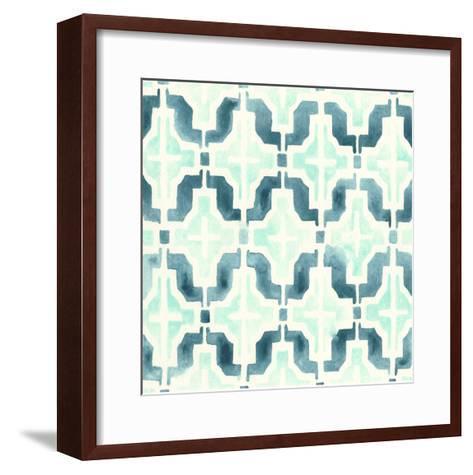 Ocean Tile IV-June Erica Vess-Framed Art Print