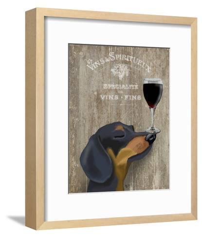 Dog Au Vin Dachshund-Fab Funky-Framed Art Print