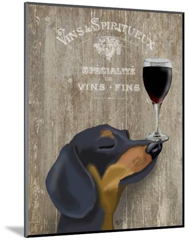 Dog Au Vin Dachshund-Fab Funky-Mounted Art Print