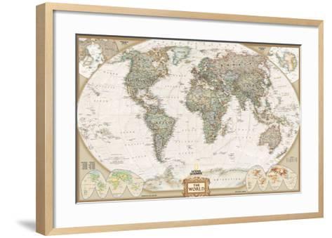 World Political Map, Executive Style--Framed Art Print