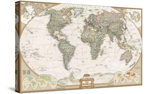 World Political Map, Executive Style--Stretched Canvas Print