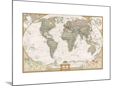 World Political Map, Executive Style--Mounted Art Print