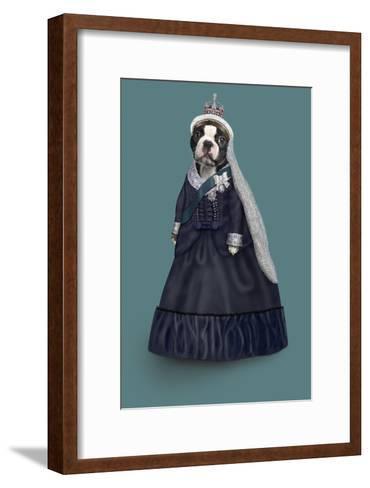 Queen Vic (Pets Rock)-Takkoda-Framed Art Print